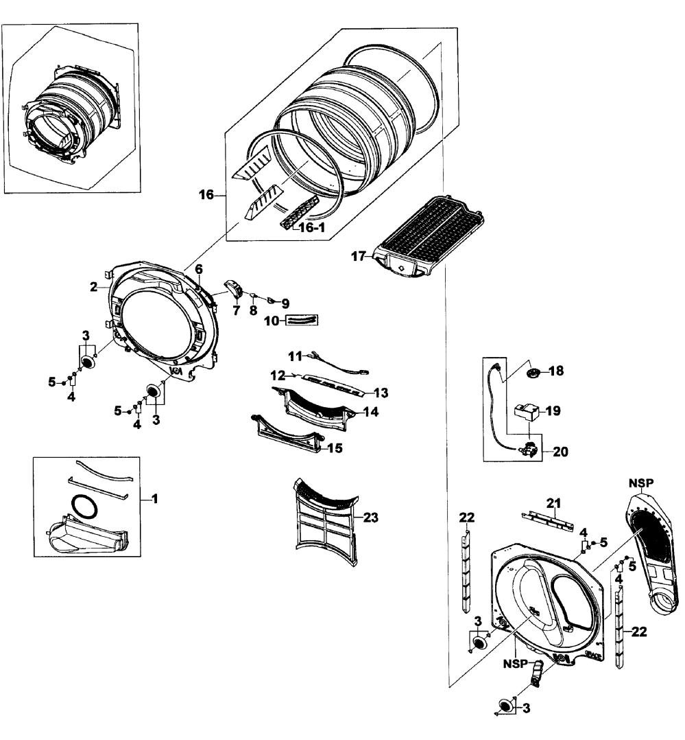 medium resolution of samsung dv520aep xaa 01 drum assy diagram