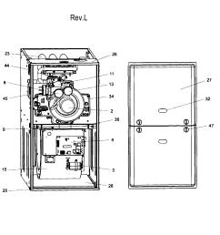 coleman furnace part diagram [ 2548 x 2667 Pixel ]