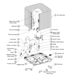 icp model n4h336ake100 air conditioner heat pump outside unit parts of a furnace system ac unit parts diagram [ 2128 x 2370 Pixel ]