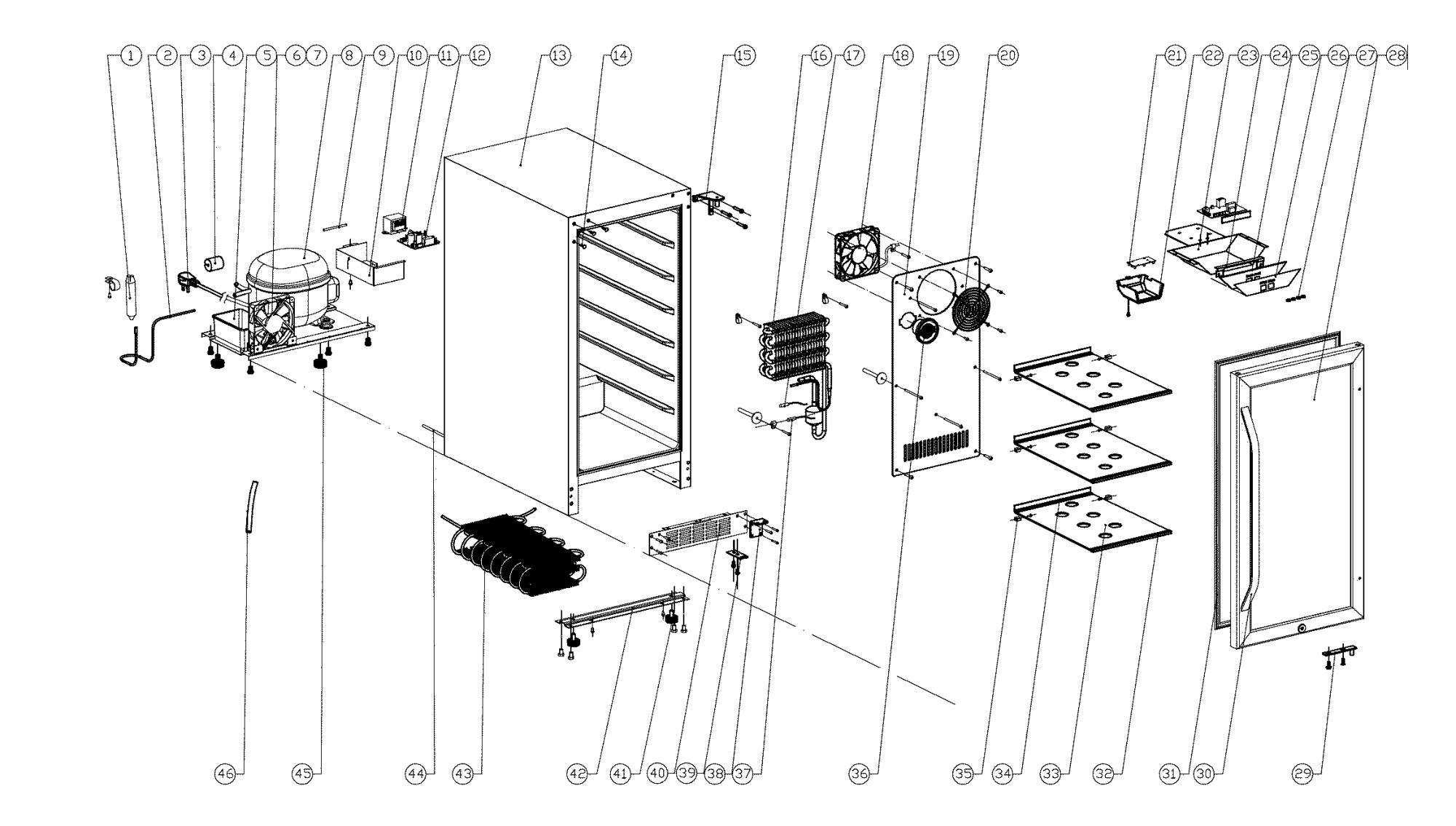 hight resolution of edgestar wiring diagram edgestar model cbr901sg coolers genuine parts rh searspartsdirect com
