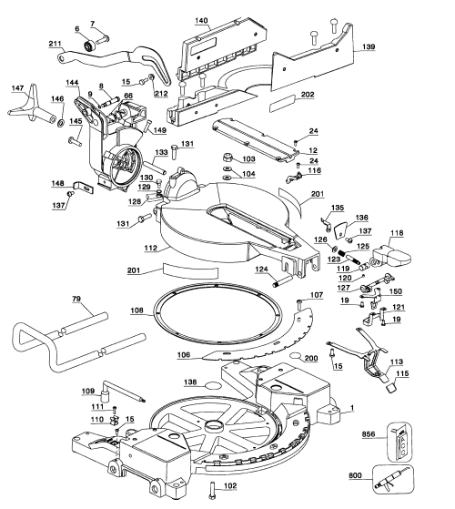 small resolution of looking for dewalt model dw715 type1 miter saw repair replacement parts