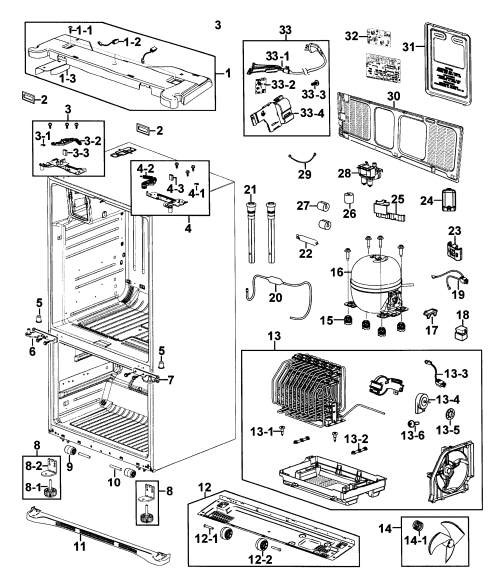 small resolution of refrigerator samsung rf267aers xaa 00 cabinet diagram