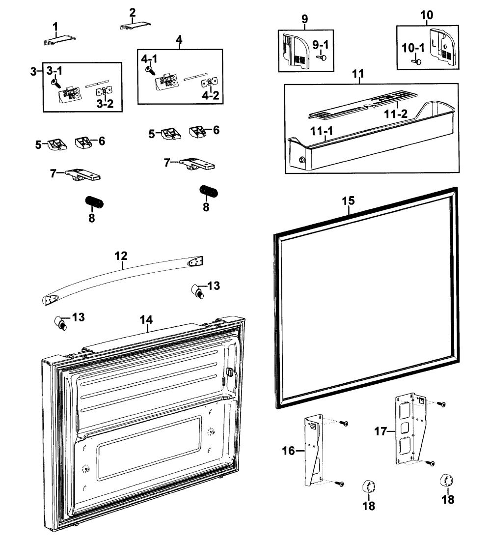 medium resolution of samsung model rf267aers xaa 0000 bottom mount refrigerator genuine parts samsung refrigerator wiring diagram samsung refrigerator