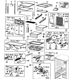 samsung model rf4287hars xac bottom mount refrigerator genuine parts rh searspartsdirect com samsung refrigerator parts diagram [ 2545 x 2832 Pixel ]