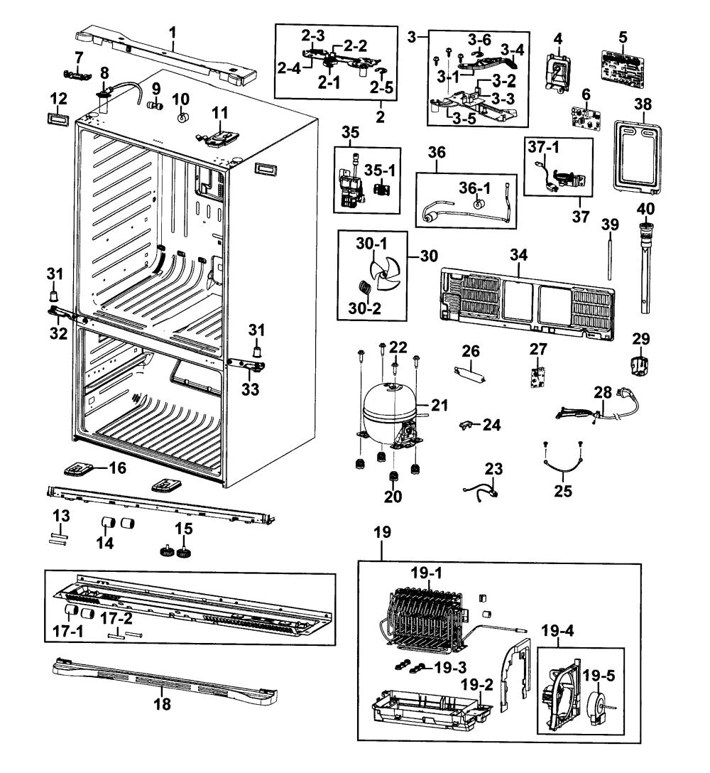medium resolution of samsung model rf4287hars xaa 0000 bottom mount refrigerator genuine samsung refrigerator rfg298hdrs diagrams samsung model rf4287hars