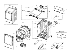 SAMSUNG DRYER Parts | Model DV45H7000EWA20000 | Sears