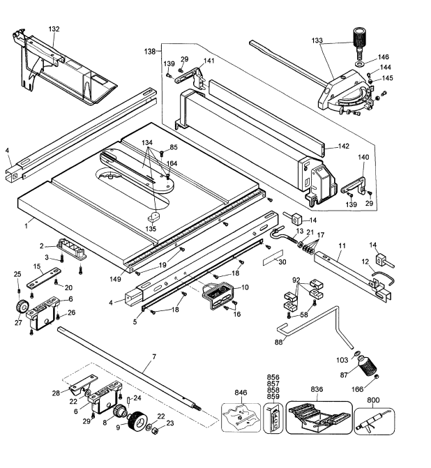 dewalt table saw dw744 parts list