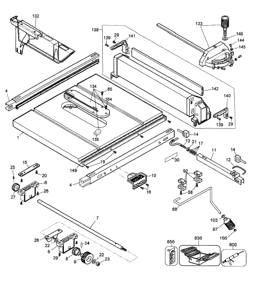 small resolution of looking for dewalt model dw744 type 3 table saw repair u0026 replacementdewalt dw744 type 3