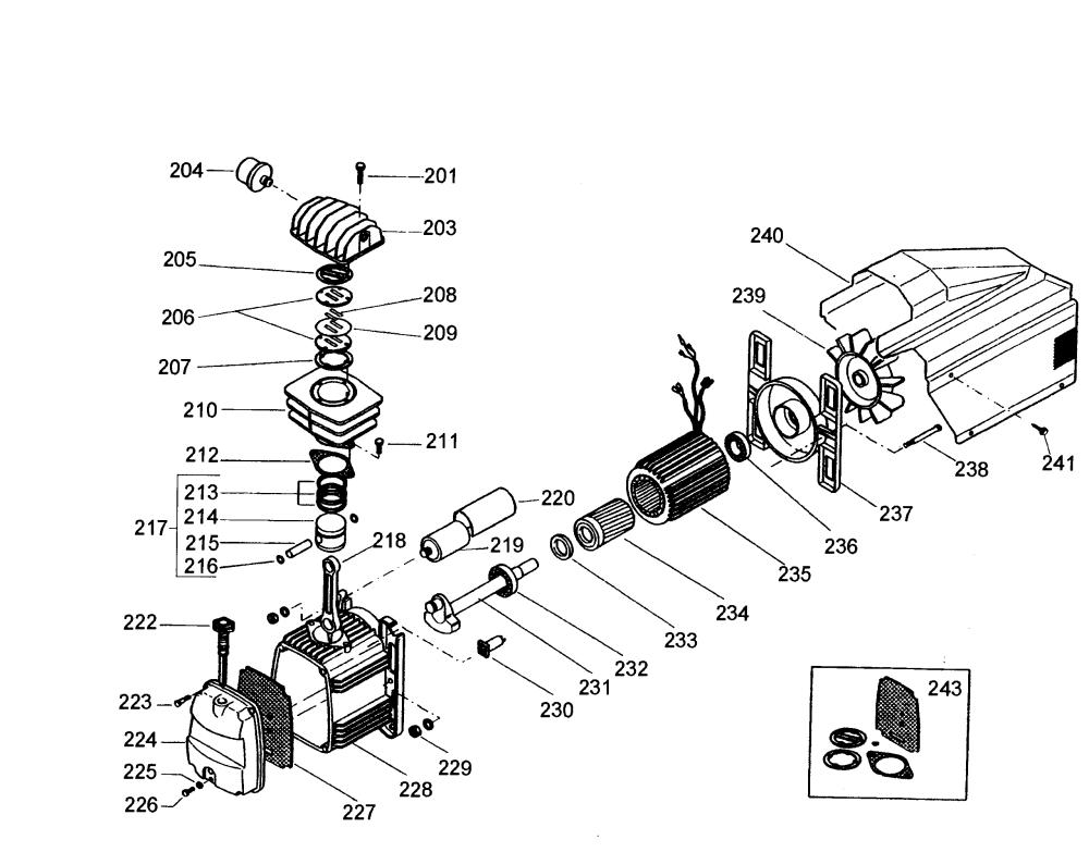 medium resolution of dewalt d55154 type 1 compressor assy diagram
