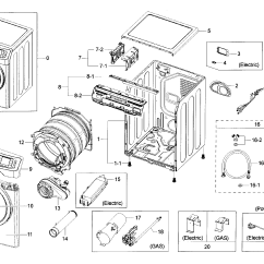 Wiring Diagram For Samsung Dryer Air Ride Suspension Parts Model Dv42h5000ewa30000 Sears