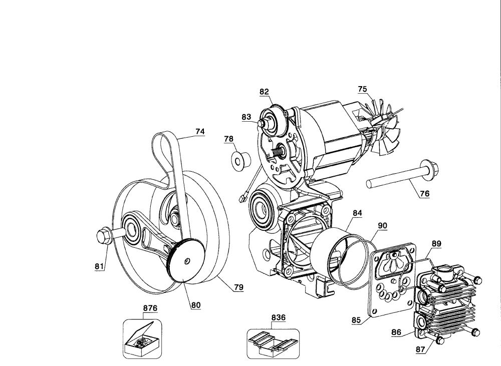 medium resolution of dewalt d55168 type 6 motor assy diagram