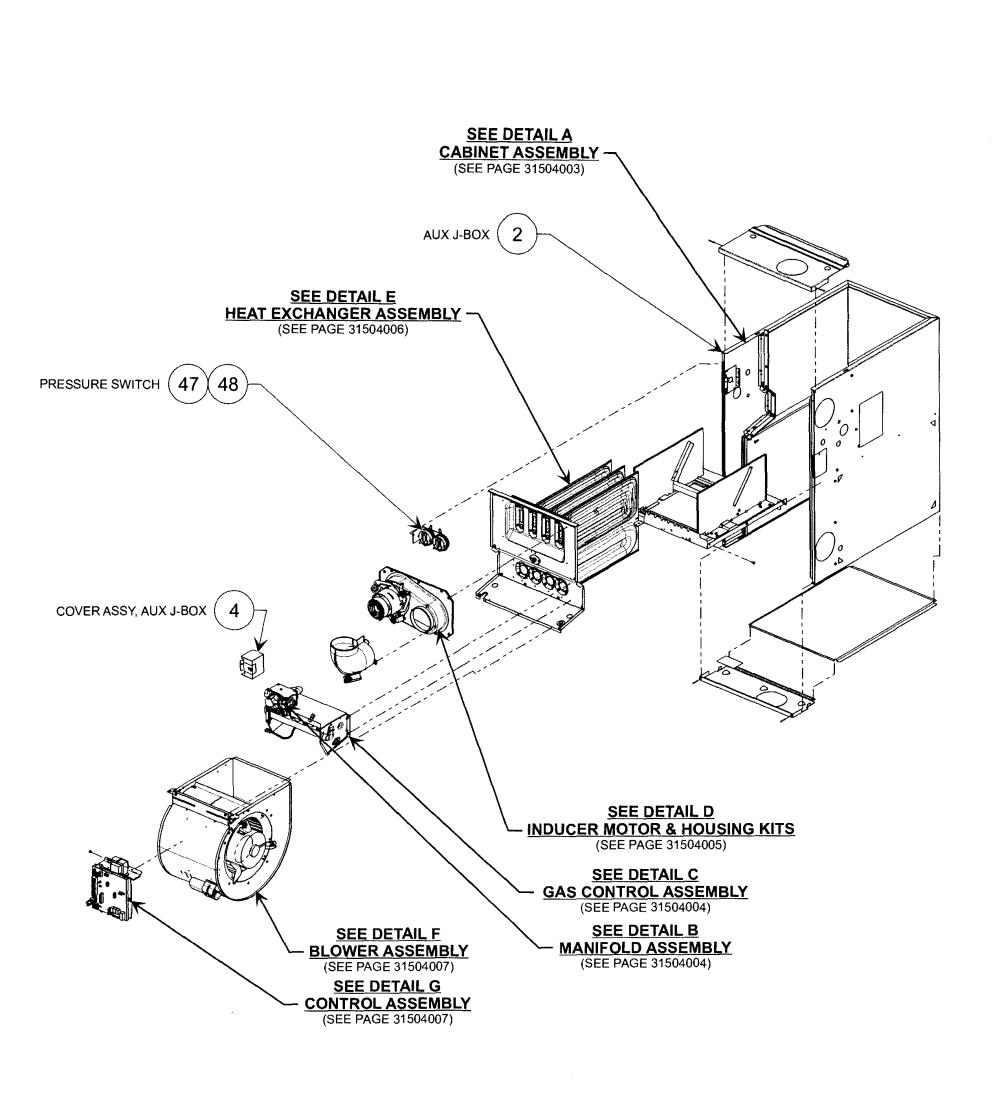medium resolution of heat exchanger carrier 58cva070 16112 main assy diagram