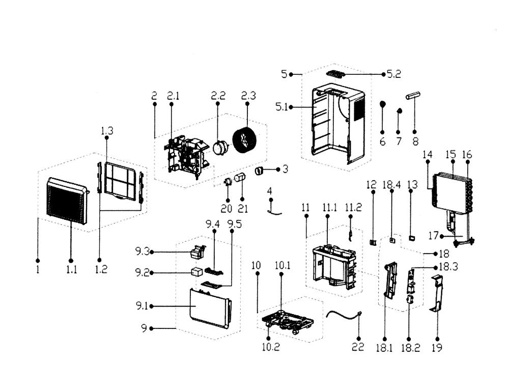 medium resolution of service manual edgestar model dep301ew dehumidifier genuine parts rh searspartsdirect com