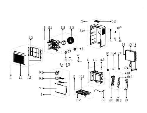 small resolution of service manual edgestar model dep301ew dehumidifier genuine parts rh searspartsdirect com
