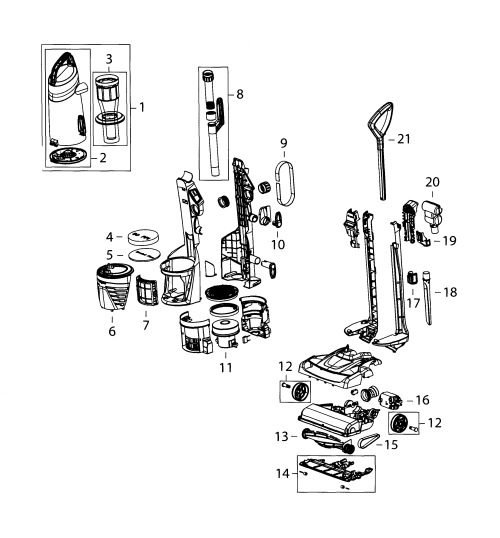 small resolution of bissell 9182w vacuum assy diagram