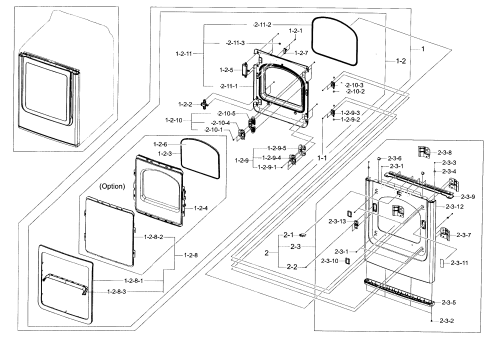 small resolution of samsung dv456ethdsu aa 00 frame front door diagram