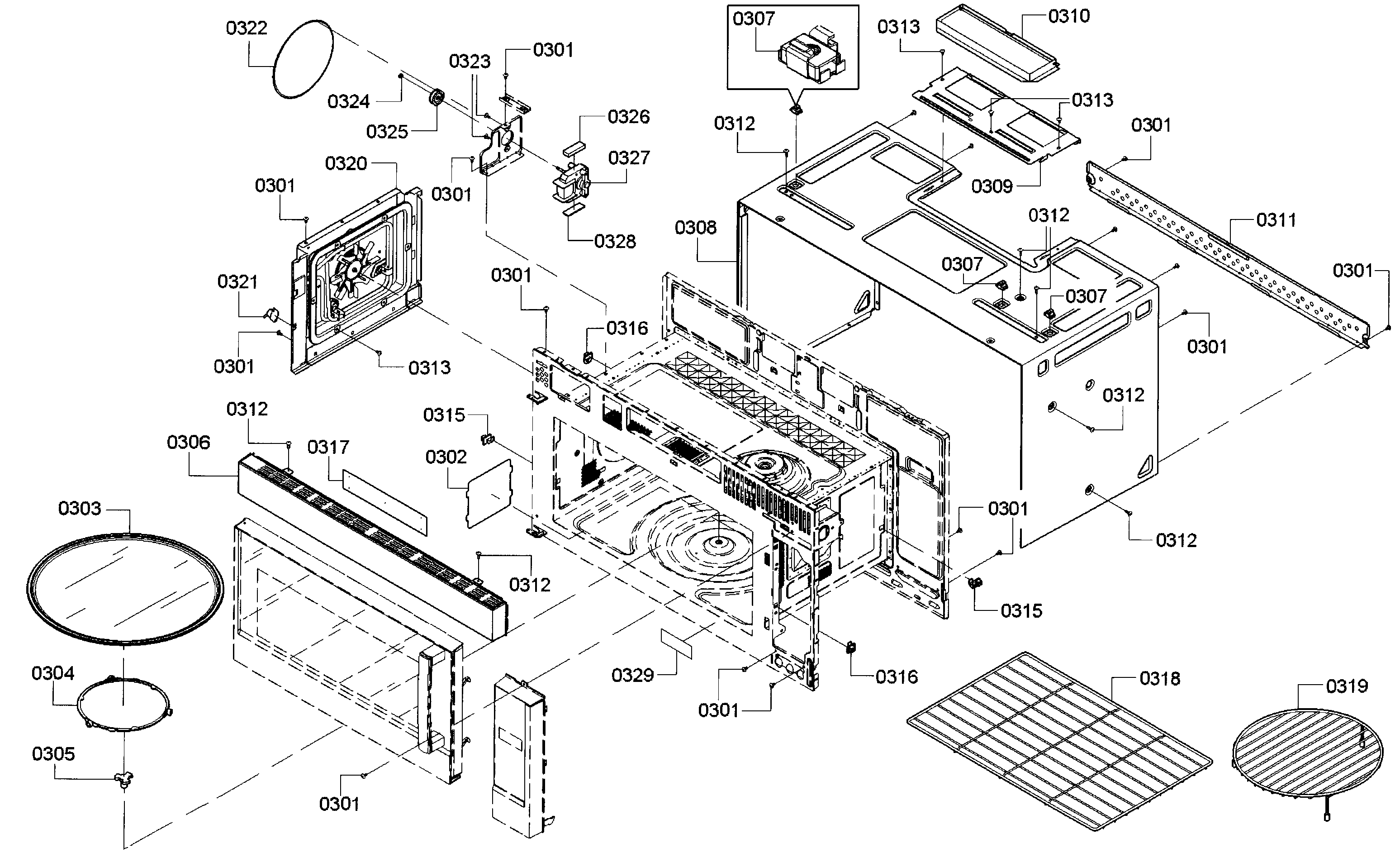 Bosch Microwave Replacement Parts