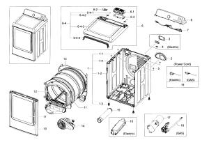 SAMSUNG DRYER Parts   Model dv48j7700ewa20000   Sears