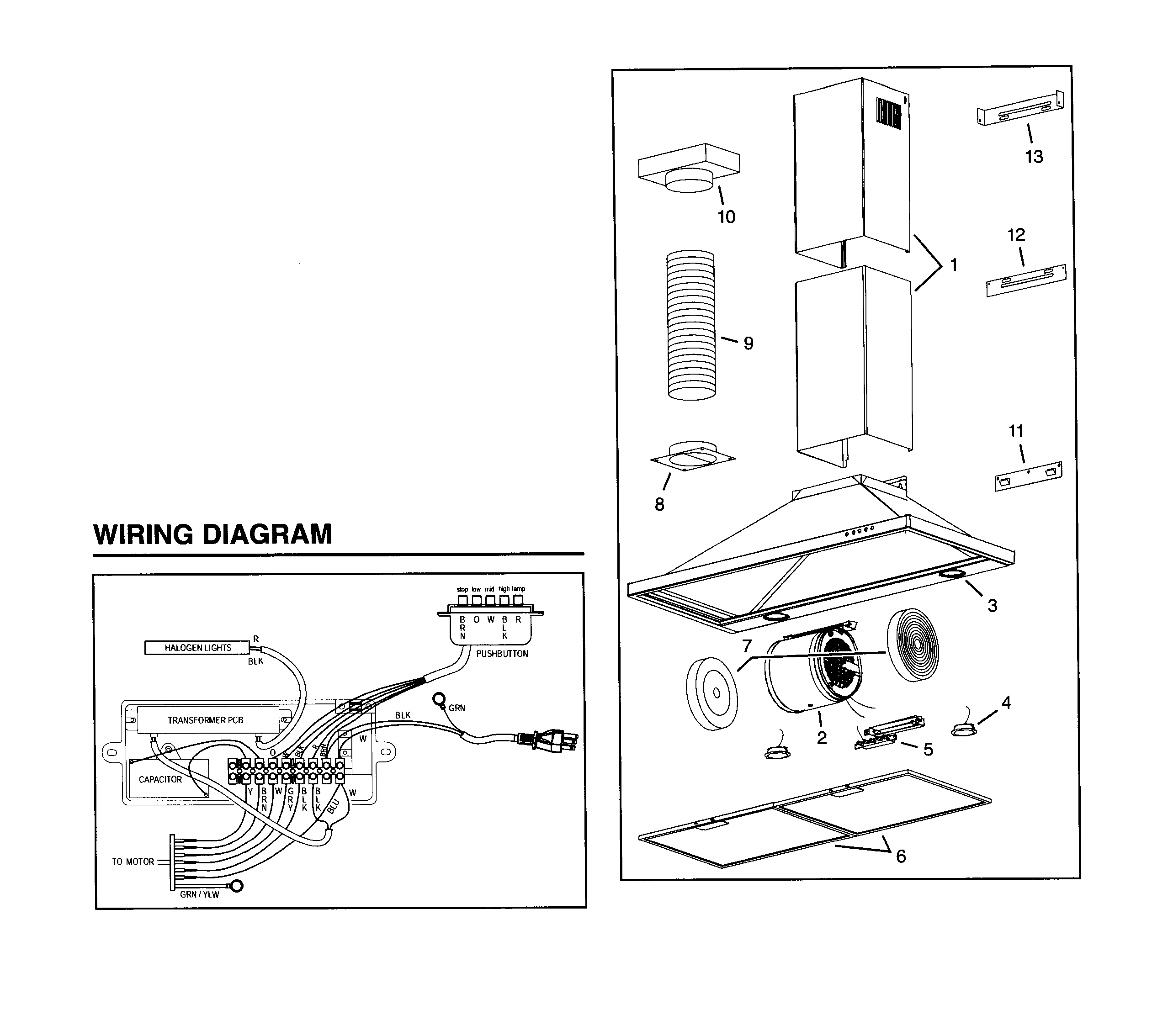 broan ventahood fan wiring diagram   34 wiring diagram images