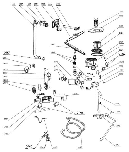 small resolution of edgestar bidw18ss 1 sump assy diagram