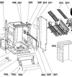 edgestar bidw18ss 1 cabinet assy diagram [ 2400 x 1693 Pixel ]