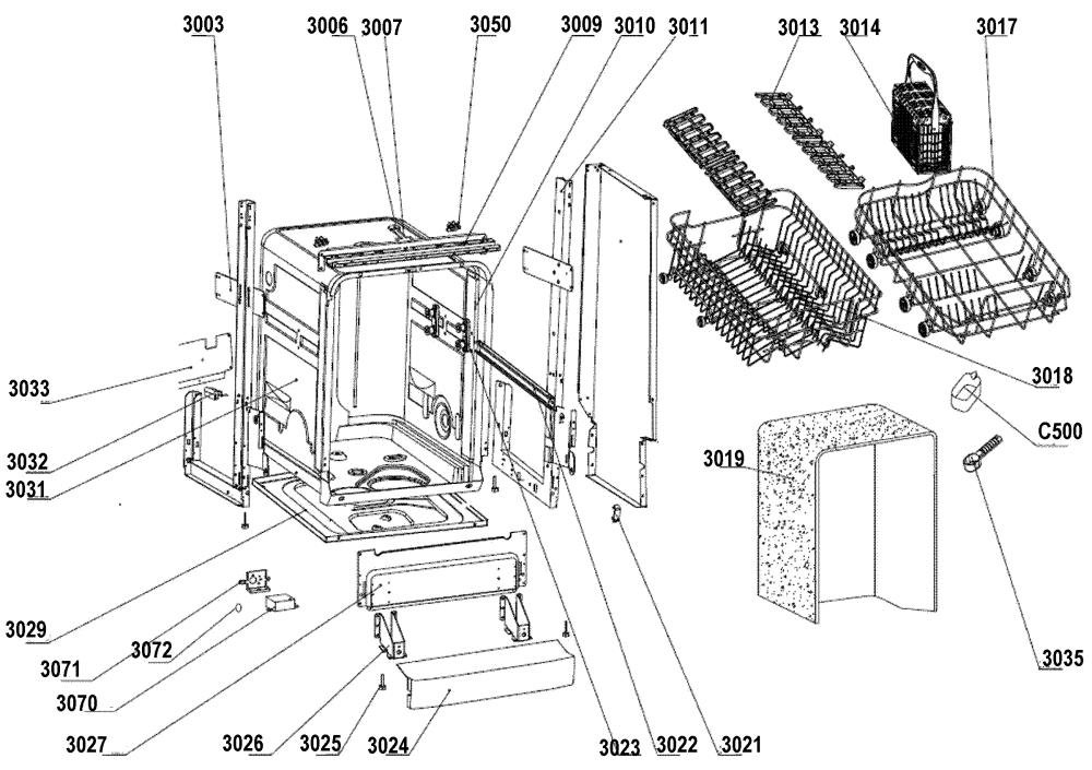 medium resolution of edgestar bidw18ss 1 cabinet assy diagram