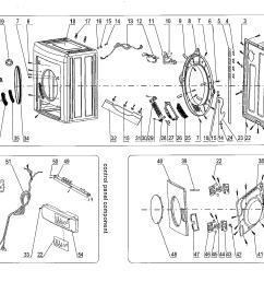 looking for haier model hlp141e cf06m0e0m00 dryer repairhaier hlp141e cf06m0e0m00 cabinet parts diagram [ 1695 x 1478 Pixel ]