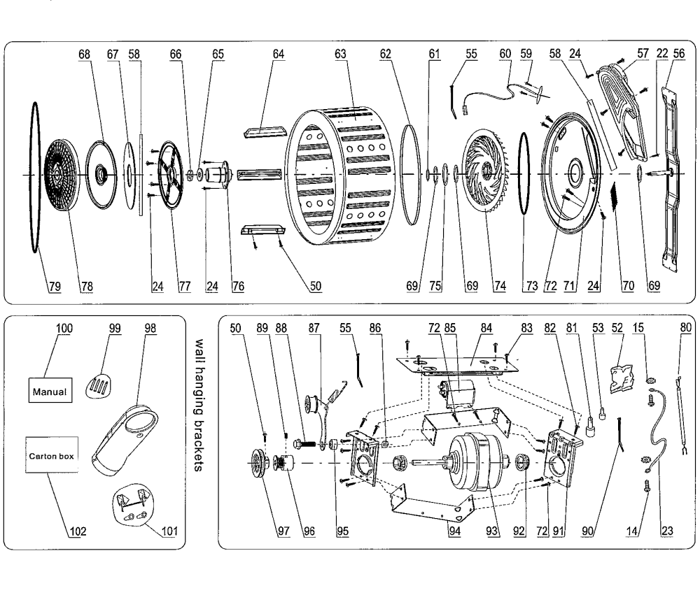 medium resolution of haier hlp141e cf06m0e0m00 inside parts diagram