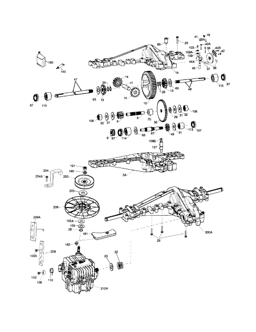small resolution of peerless model 2000 2000 022 transaxle transmission tractor genuine parts