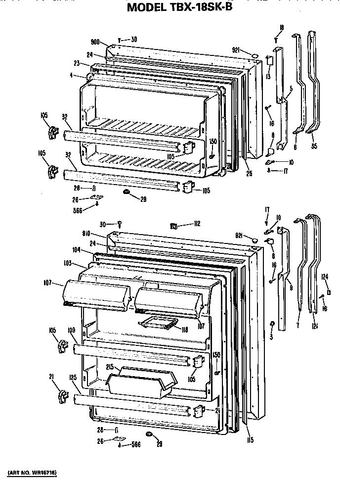 Refrigerator Parts: Ge Refrigerator Parts Diagram Manual