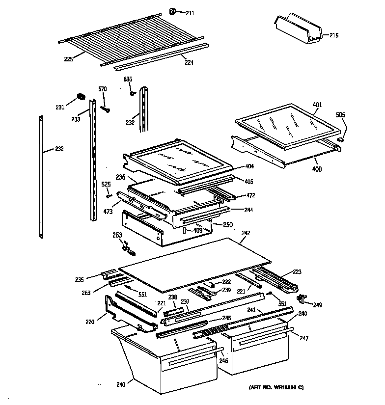 Ge Refrigerator news: Ge Refrigerator Parts Diagram List