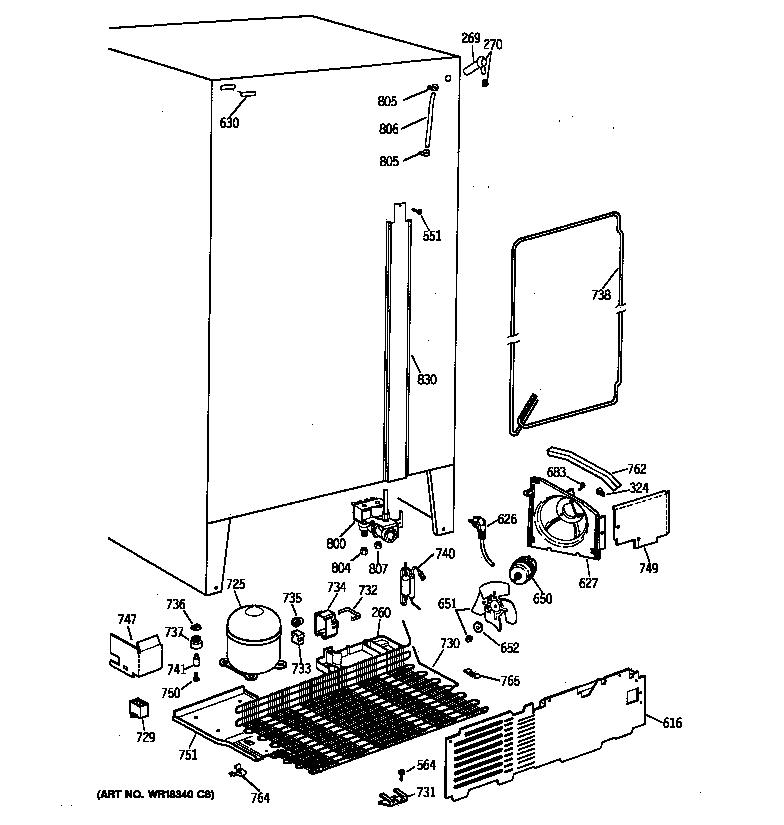 UNIT PARTS Diagram & Parts List for Model tfx22zrxdww GE