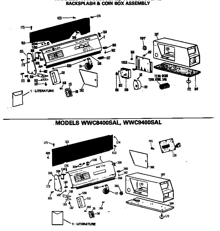 Backsplash Diagram Parts List For Model Dcvh680ej1ms Geparts Dryer