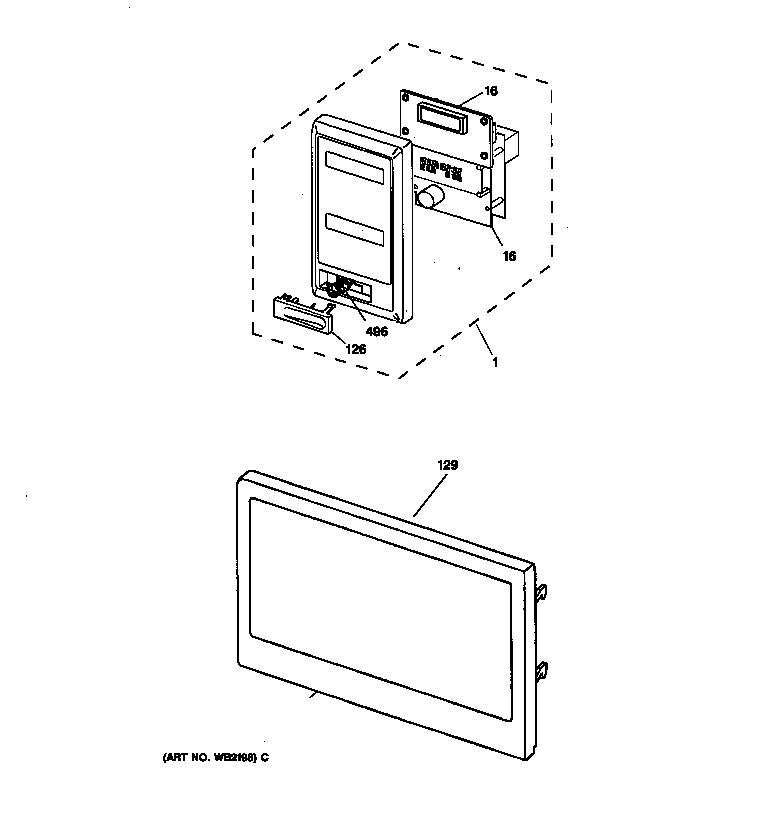 MICROWAVE CONTROL PANEL & DOOR Diagram & Parts List for