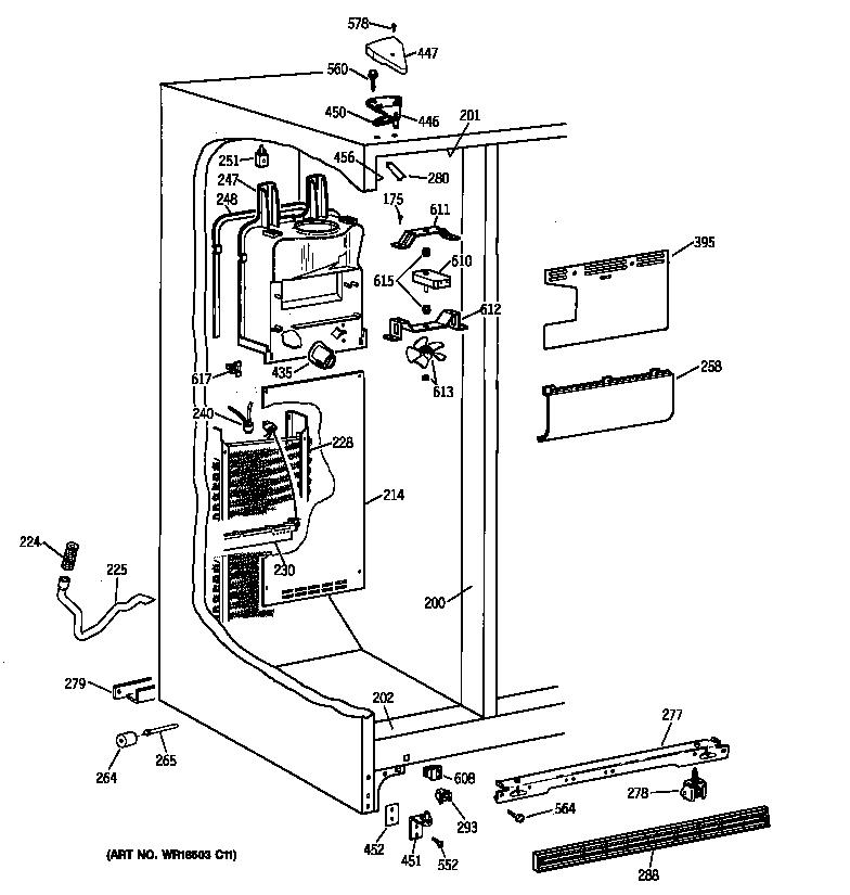 FREEZER SECTION Diagram & Parts List for Model 36350222000