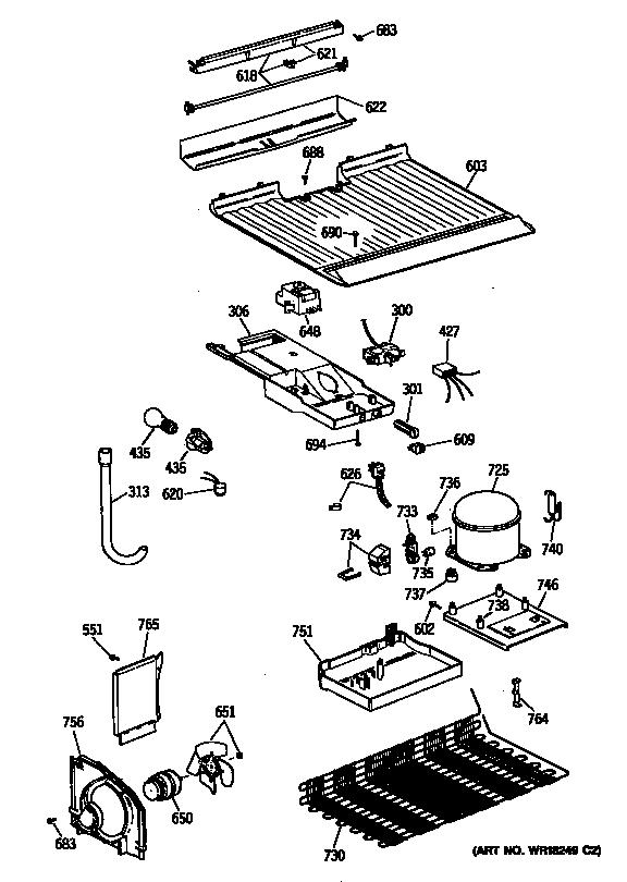 UNIT Diagram & Parts List for Model CTX14CYXKLAD Hotpoint