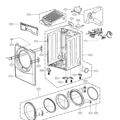 Cabinet Door Diagram Starter Solenoid Lg Dryer And Assy Parts Model Dlex8377n