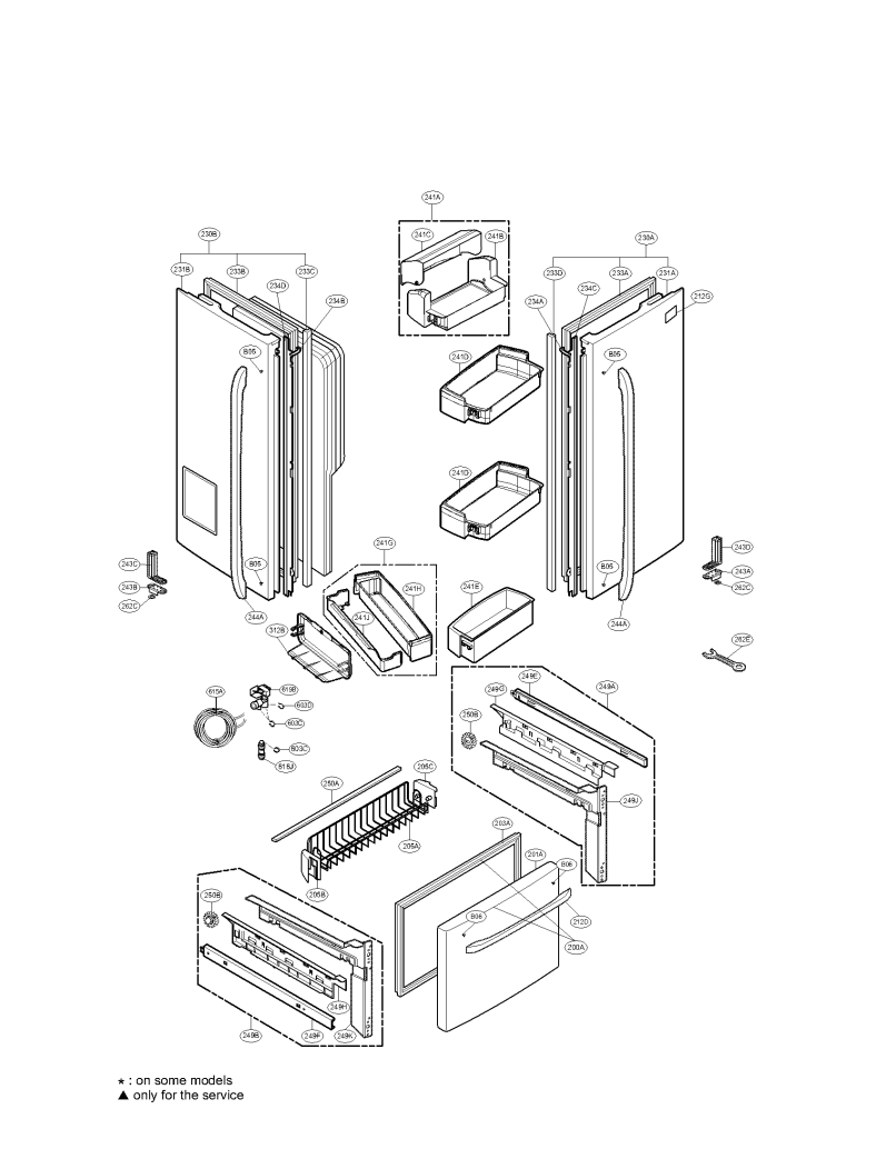Lg French Door Refrigerator Parts Diagram