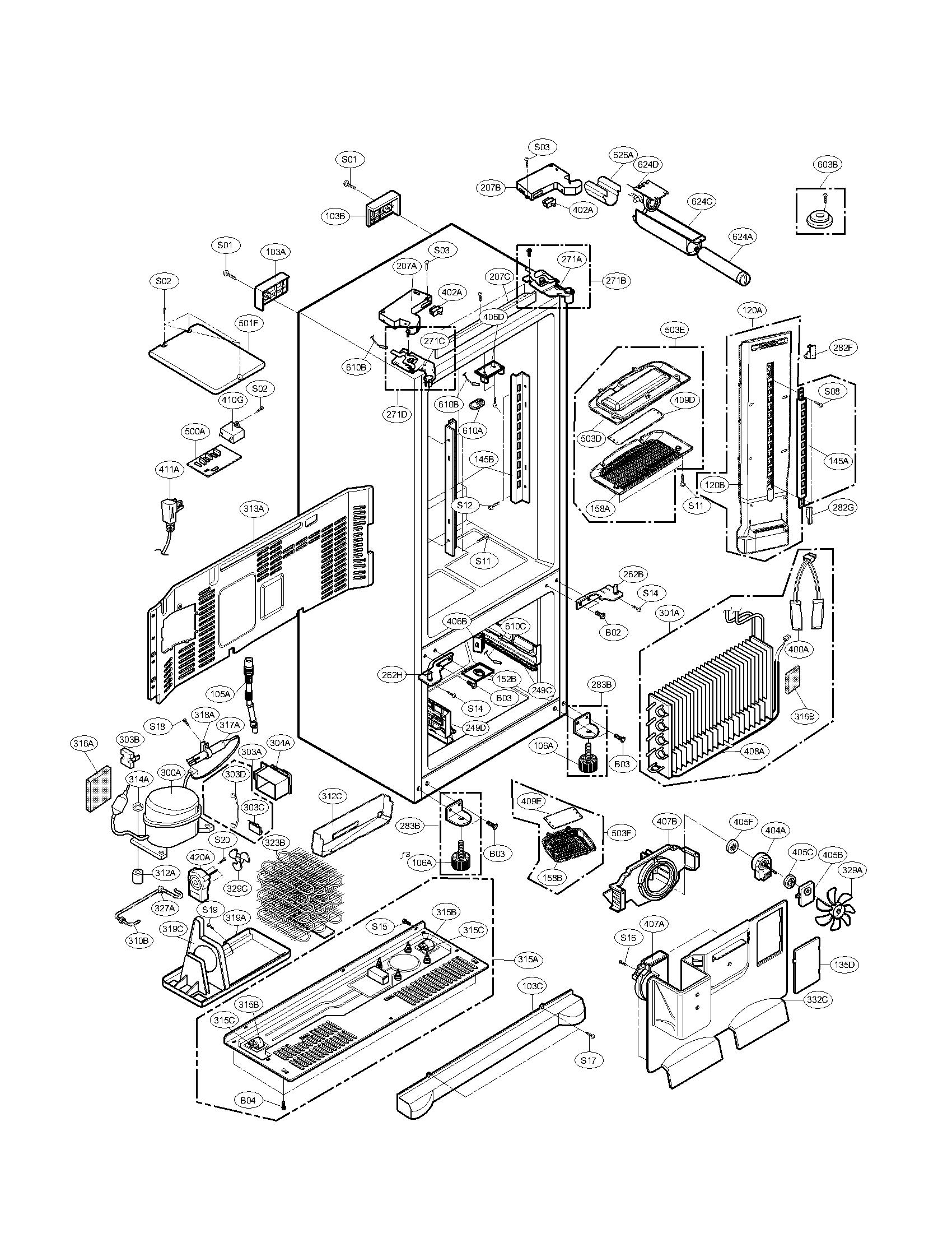 Refrigerator Parts: Kenmore Elite Refrigerator Parts Diagram