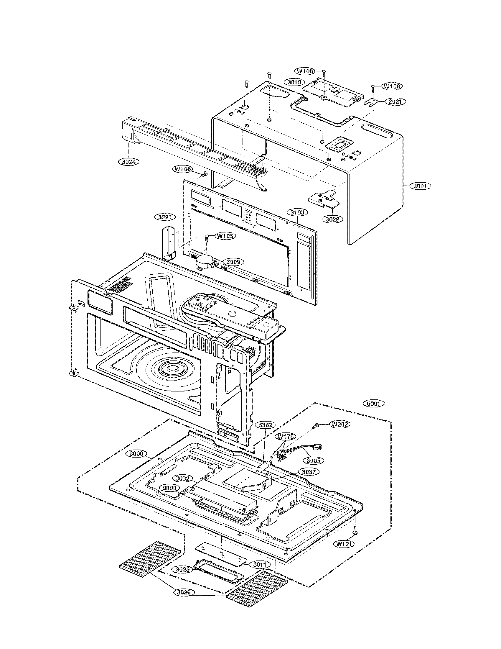 CAVITY PARTS Diagram & Parts List for Model 72188512900