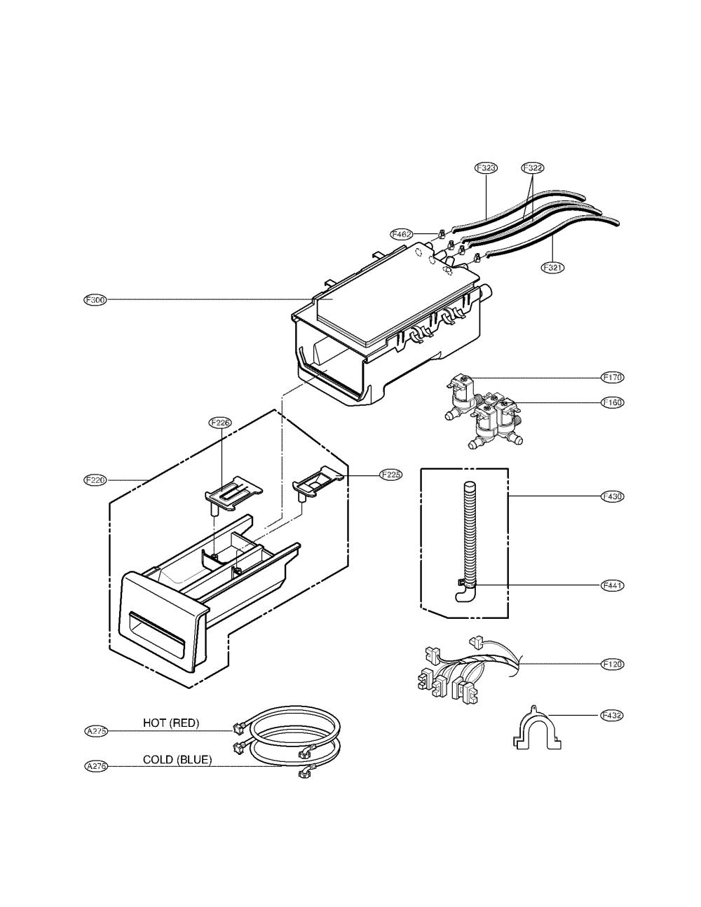 medium resolution of lg wm2010cw dispenser parts diagram