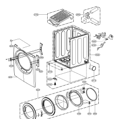 Cabinet Door Diagram Wiring Of A Car Kenmore Dryer And Assembly Parts Model