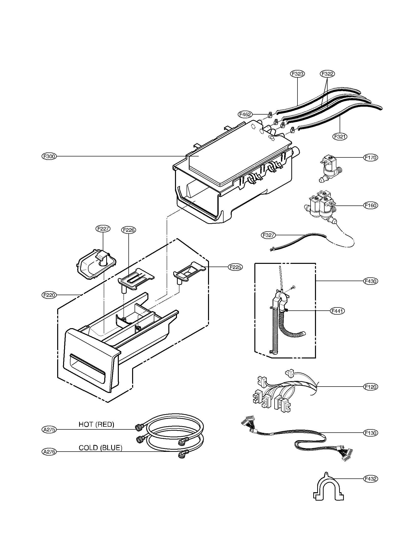 DISPENSER ASSEMBLY PARTS Diagram & Parts List for Model