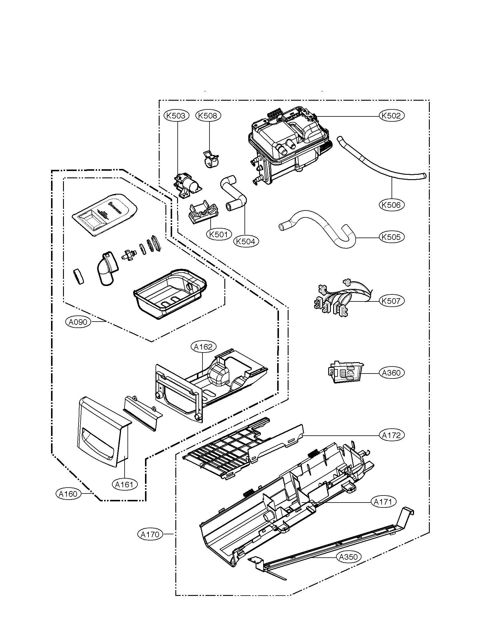 PANEL AND GUIDE ASSEMBLY PARTS Diagram & Parts List for