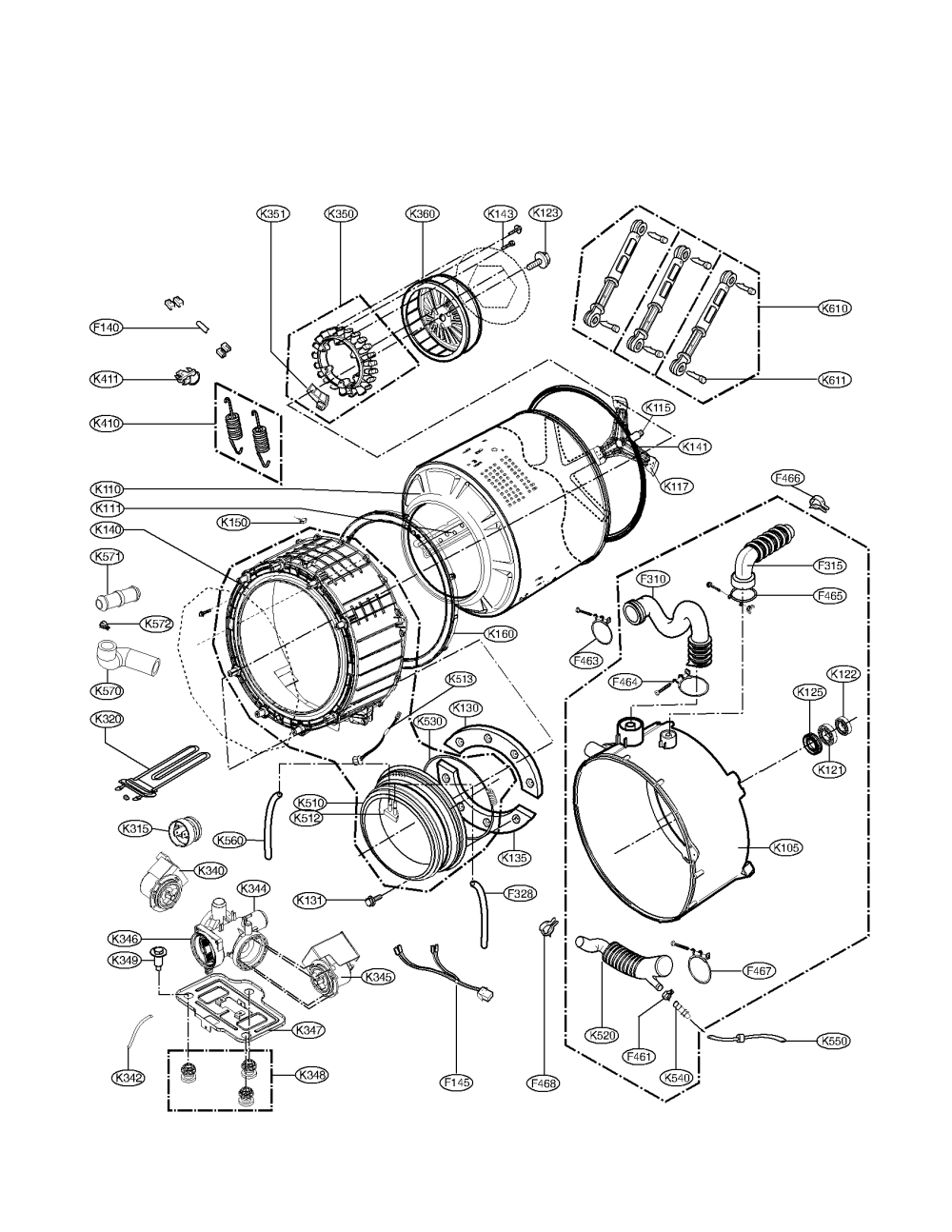 medium resolution of kenmore elite model 79642192900 residential washers genuine parts sears kenmore elite dryer parts wiring diagram for kenmore elite dryer front loader