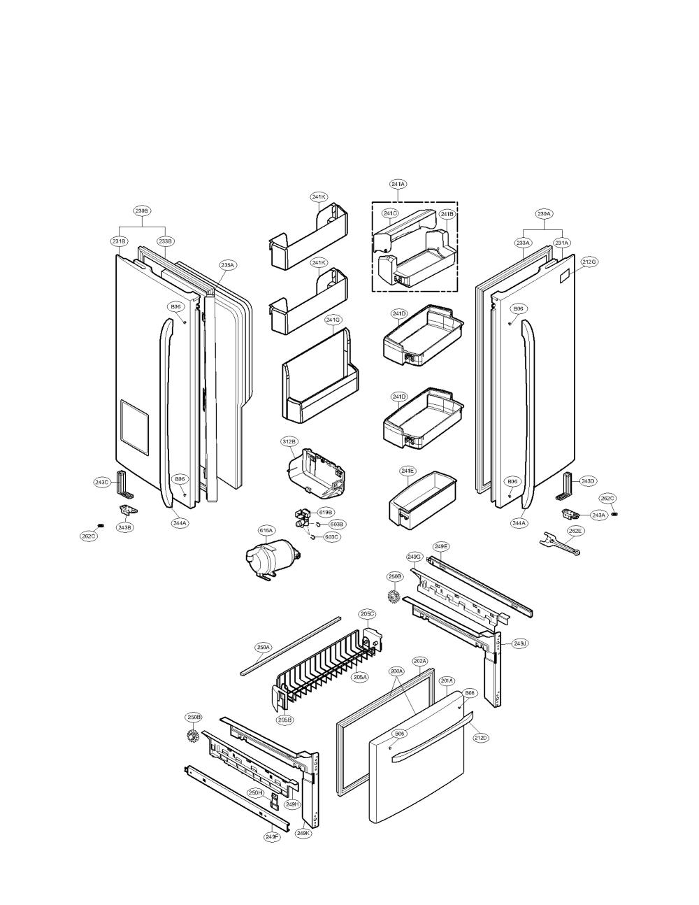 medium resolution of lg model lfx25976sw 00 bottom mount refrigerator genuine parts lfc22770st lg refrigerator diagrams lg refrigerator diagrams