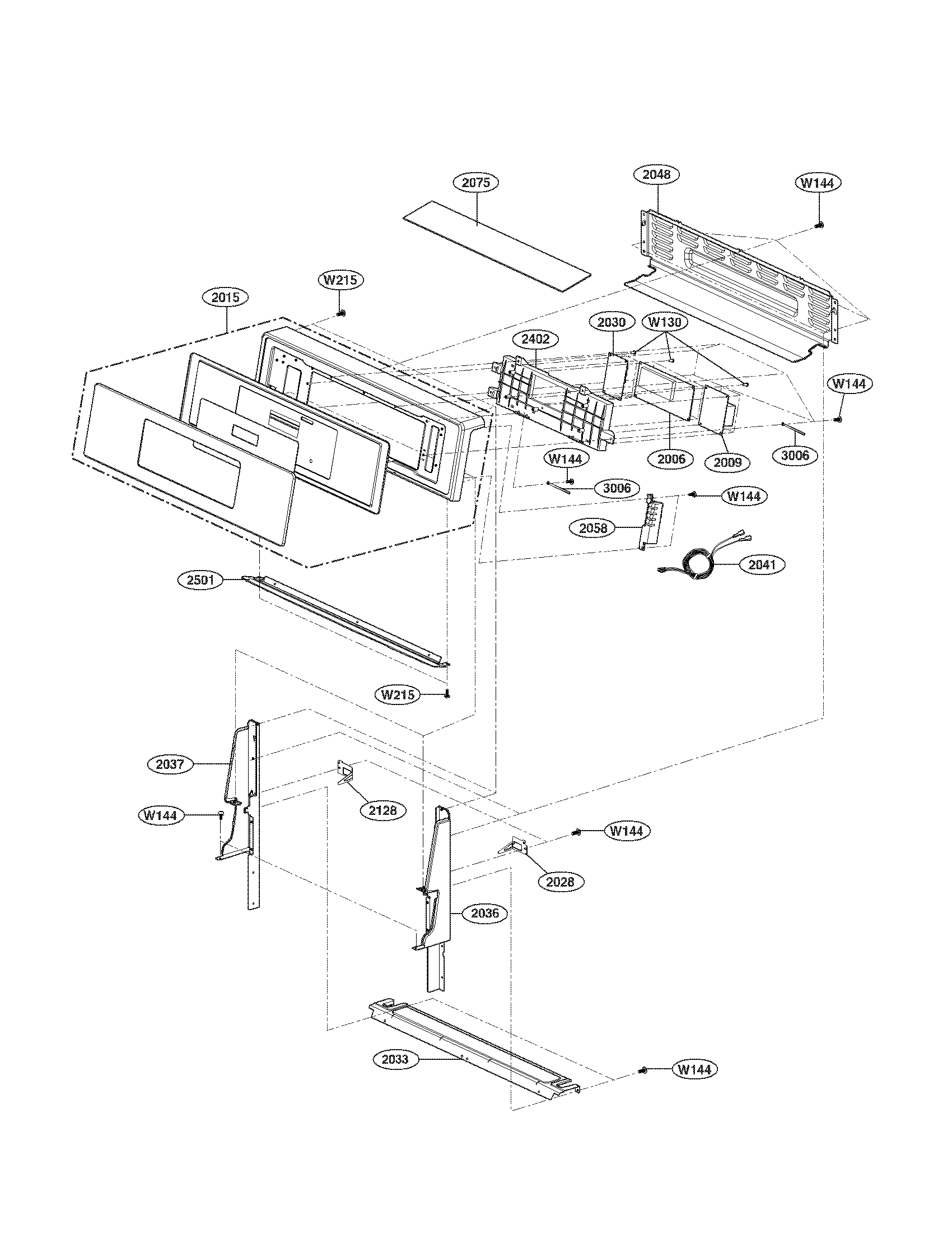 CONTROLLER PARTS Diagram & Parts List for Model LRG3093SW