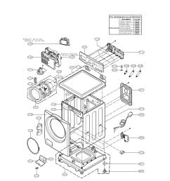 lg wm2101hw cabinet and control parts diagram [ 1700 x 2200 Pixel ]