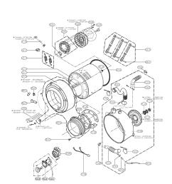 lg wm2101hw drum and tub parts diagram [ 1700 x 2200 Pixel ]