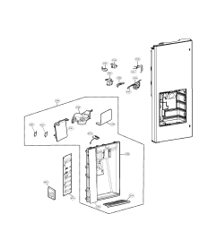 lg lfx31925sb 00 dispenser parts diagram [ 1700 x 2200 Pixel ]